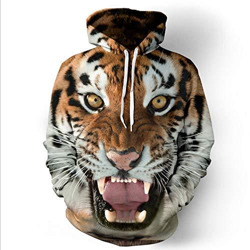 Gruppe Der Weiblichen Kostüm - jiuyaomai Sweatshirt Tiger 3D-Druck Männer Kapuzenpullover weibliche Baseballuniform lässig Liebhaber XXXL