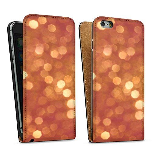 """artboxONE Handyhülle Apple iPhone 6 Plus, schwarz Downflip-Case Handyhülle """"Glitzer Case"""" - Geometrie - Smartphone Downflip Case mit Kunstdruck von Kamil Hajek Downflip Case schwarz"""