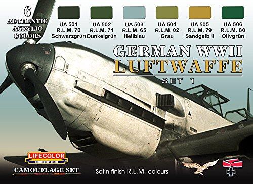 Tarnfarben Set LifeColor CS06 GERMAN WWII LUFTWAFFE SET1 (Wwii Luftwaffe)