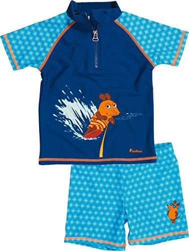 Playshoes Jungen Badeshorts 2 - teiliges Badeset DIE MAUS mit UV - Schutz, Gr. 86 (Herstellergröße: 86/92), Blau (original 900) Badeanzug Für Jungen Mit Uv Schutz