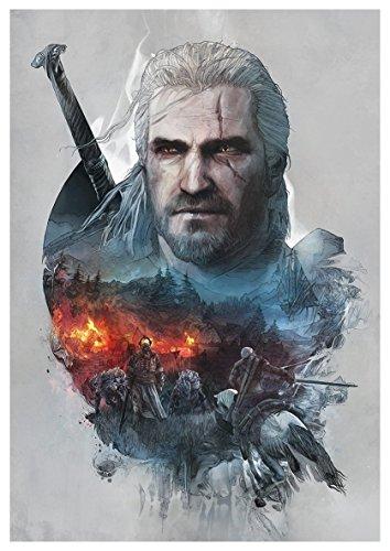Poster The Witcher III (Q) - Geralt - A3 (42x30 cm)