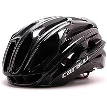 Casco de bicicleta Queshark Casco de bicicleta MTB Casco de bicicleta ultraligero (Negro)