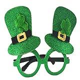 WHISKY Brille St. Patrick's Day Green Irish Adult Festival Lustige Shamrock Green Hat Brille für Herren & Damen 2019 Mode Brille (A)