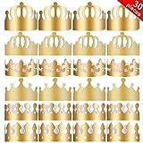 Yaomiao 30 Pièces Couronnes en Papier de Fête Chapeaux de Couronne d'or Couronne Roi pour la Fête d'anniversaire Accessoires de Photo...