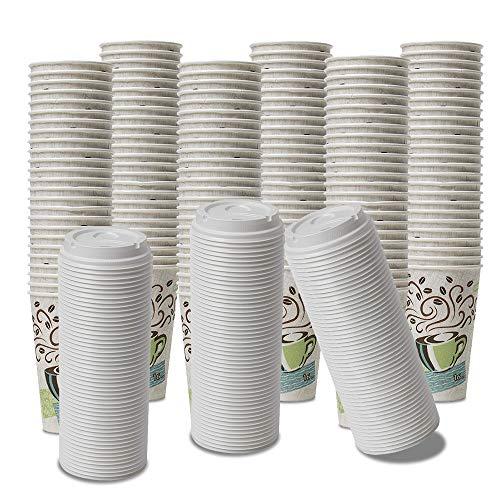 Dixie PerfecTouch WiseSize Kaffeebecher, isoliert, 340 ml Becher und Deckel 16 oz 150 Cups, 150 Lids