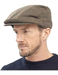 RJM Mens Traditional Country Check Flat Cap
