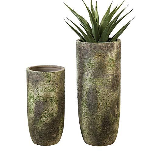 Casablanca Bodenvase Guam grün/braun antikH.49cm