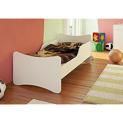 Best For Kids Niños cama con colchón TÜV certificado en blanco muchos tamaños