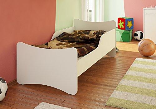 *BEST FOR KIDS KINDERBETT 90×200 weiß mit Schaummatratze mit TÜV ZERTIFIZIERT 90×200 cm*
