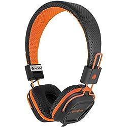 [Cable] NGS Gumdrop - Auriculares de diadema cerrados, color negro y naranja