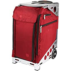 Züca Pro Travel - el maletín sentarse (Ruby Red / Acero inoxidable)