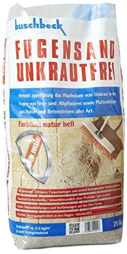 Buschbeck Fugensand Unkrautfrei NATUR HELL 20kg-Sack