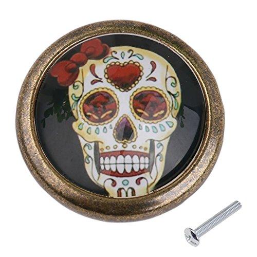 Maniglie Pomelli Cranio Porta Cassetto Armadio Tirare La Manopola Impugnatura Arredamento - 20 Design - Modello #14, XL - Armadi Di Impugnatura Maniglia