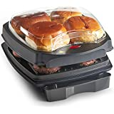 VonShef Health Grill & Bun Warmer With Non-Stick Plates And Automatic Temperature Control - 1100W