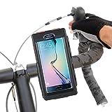 Tigra Sport BikeConsole Robuste Wasserfeste Stoßfeste Schutzhülle und Verstärkte Fahrradhalterung für Lenkerstange/Vorbau für Samsung Galaxy S6/S6 Edge - Schwarz