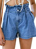 Missy Chilli Damen Denim Shorts Sommer Sexy High Waist Kurze Jeans Shorts Hose