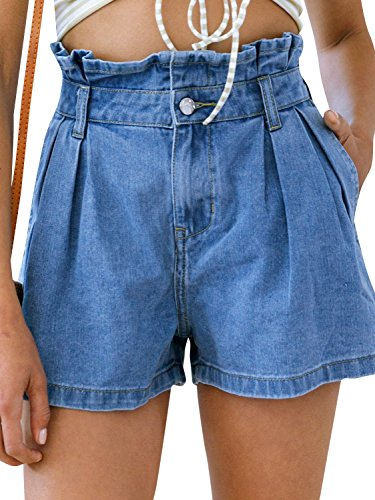 Missy Chilli Women's Summer Sexy High Waist Short Pants Denim Shorts Jeans With Pocket
