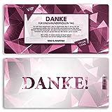 (50 x) Danksagungskarten VIP Danksagung Danke Karte Ticket Edel Diamant