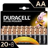 Duracell Plus Power Pilas Alcalinas AA Paquete de 20