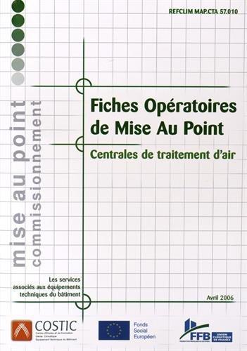Fiches opératoires de mise au point : Centrales de traitement d'air (1Cédérom) par COSTIC