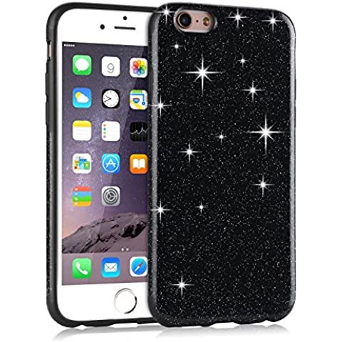 Funda iPhone 6s Plus, Tendlin Lujo Bling Glitter Flexible TPU Silicona Híbrida Suave Chispa Carcasa para iPhone 6 Plus y iPhone 6s Plus