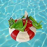 Exner SCHWIMM-FROSCH im Schwimm-Ring mit BUCH, D ca. 18 cm