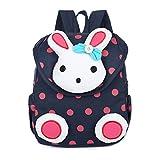 FRISTONE Süß Kaninchen Mini Rucksack Kinder Babyrucksack Kindergartenrucksack Backpack Schultasche Kleinkind Mädchen Jungen,Dunkelblau