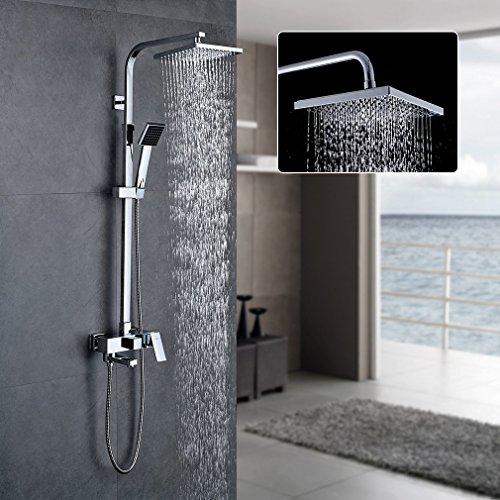 Auralum set doccia completo,colonna doccia con miscelatore doccia soffioni grande piazza doccia sistema a pioggia
