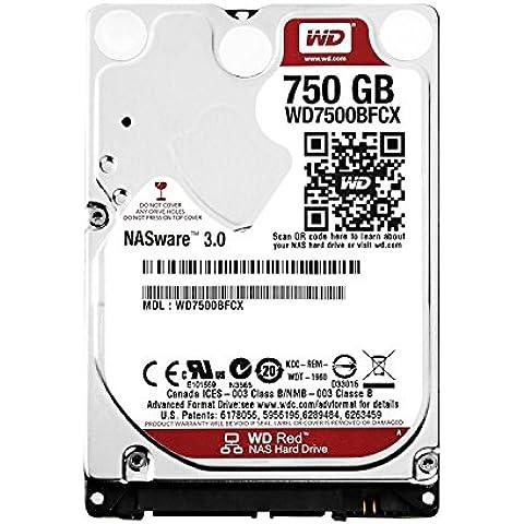 WD Red - Disco duro para dispositivos NAS portátiles de 750 GB (Intellipower, SATA a 6 Gb/s, 16 MB de caché,