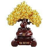 ZLR Glück Fortune Baum Harz Skulptur Ornamente Cash Kuh Baum Harz Hause Wohnzimmer Dekoration Geschenke Handwerk Ornamente (größe : 37 * 20 * 48)