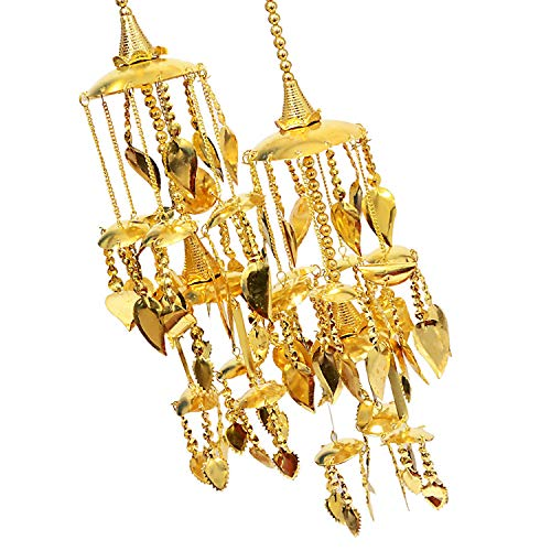 Mansiyaorange Wedding Wear Punabi Kalire/kalere/Kaleera/Kalera/Bridal Hand Hanging/kaleera for Brides/Girls/Women(Gold Patra Work Premium Range)(klaeera06)