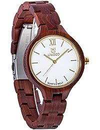Estilo de Lujo Hecho a mano Hombre Relojes de madera con 100% Natural sándalo Watches