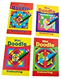 Libetui 10 Malbücher Mini-Malbuch Doodle Mandala für Kinder Größe 148x105mm ideal als Kindereschenk Mitgebsel für Hochzeit Kindergeburtstag