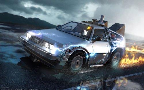 """Back To The Future """", stampa su tela incorniciata del film"""