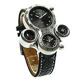 HWCOO Hermoso Relojes de Pulsera OULM/Reloj de Cuarzo para Hombre/Brújula / Termómetro (Color : 3)