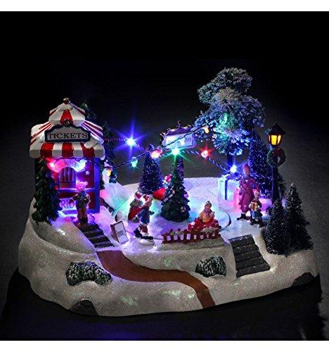 Village de Noël lumineux Course de voitures