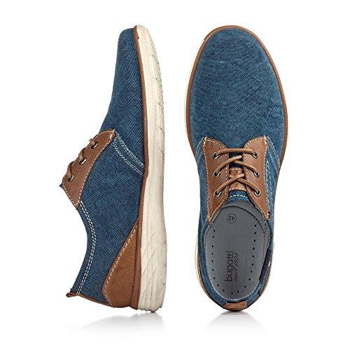 bugatti Herren 331150056910 Derby Blau (dark blue / cognac 4163)