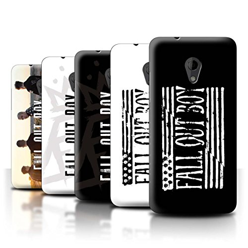 Offiziell Fall Out Boy Hülle / Case für HTC Desire 700 / Pack 5pcs Muster / FOB Band Logo - Handy-fall, Desire 700 Htc