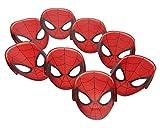Spiderman 8 Stück Masken Masken aus Papier mit Befestigungsband