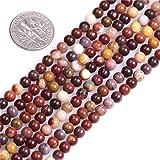 SHGbeads - Cuentas de mookaite para bisutería, 16 mm, color natural, 4mm Multicolor, 4 mm