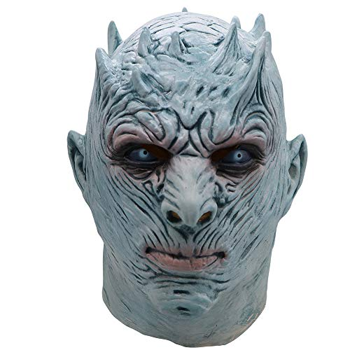 Halloween, Game of Thrones Nacht König Maske White Walker Maske, Scary Kostüm Spielt Maskerade Helm, Perücke Arbeit Make-Up Requisiten, Horror Cosplay Latex - Eine Nacht Mit Dem König Kostüm