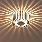 Liqoo® LED Wandleuchte Flurlampe Wandlampe Effektleuchte Design Lampe Wandstahler Aluminum 3W Warmweiß 220 Lumen