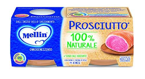 Mellin omogeneizzato di prosciutto 100% naturale - 12 vasetti da 80 gr
