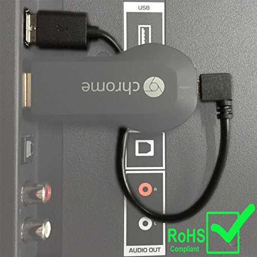 New Chromecast USB Cable  Designed to Power Your Google Chromecast HDMI Streaming Media Player from Your TV USB Port