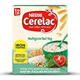 Nestle CERELAC Fortified Baby Cereal with Milk, Multigrain Dal Veg - From 12 Months, 300g BIB Pack