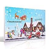 MJARTORIA Damen Schmuck Kalender Adventskalender Adventszeit mit 24 Überraschungen Kette Ohrringe Armband Weihnachten G