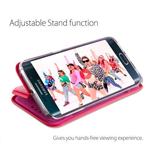 MyGadget PC Plastik Hülle für - Samsung Galaxy S7 Edge - ultra dünn & leicht (0,8 mm / 6 gr.) harter Bumper Schutzhülle Cover Case Anti Kratz Schutz in Schwarz Flip Case Rot