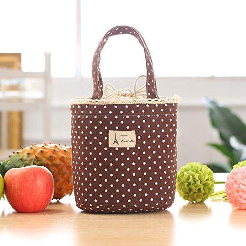 Zolimx Thermal Isolierte Brotdose Kühltasche Tote Bento Pouch Mittagessen Container (Braun) (Hobo Unterschrift Handtasche Bag)
