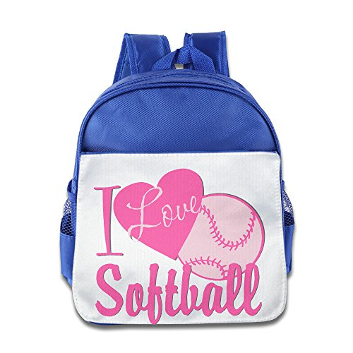 jxmd Custom Superb Love Softball Jungen und Mädchen Schultasche für 1-6Jahren royalblau, Königsblau (Blau) - JXMDS-7755332-RoyalBlue-29 (Softball-rucksäcke)