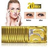 24K Gold-Pulver-Gel-Kollagen-Augenmaske, Kollagen Augenpads - Die Feuchtigkeit spendende Anti Falten Augenmaske gegen Augenringe & Fältchen Anti Aging (25 Paar)